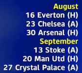 leicester fixtures